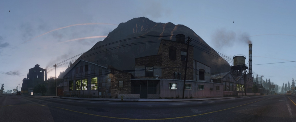 Cluckin' Bell Buildings, Paleto Bay – High Res Pano