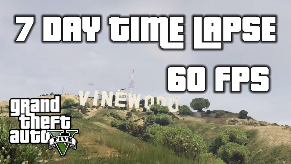 7 Days in San Andreas: GTA 5 Time Lapse
