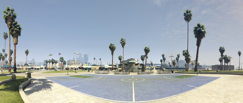 Vespucci Beach Basketball Court – High Res Pano